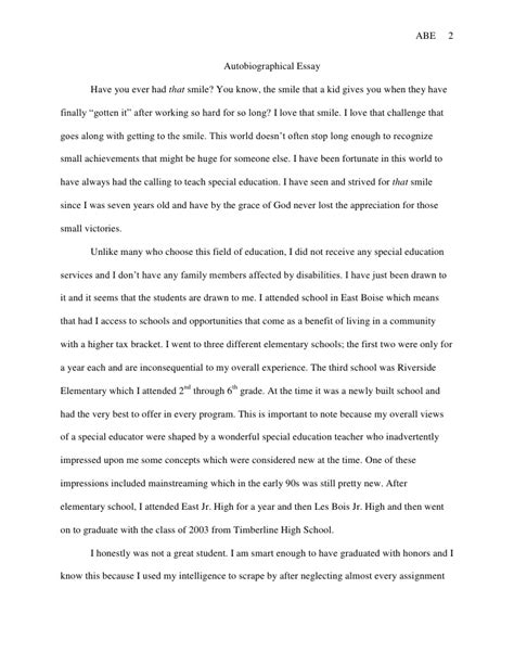 biography writing exercise autobiographical essay