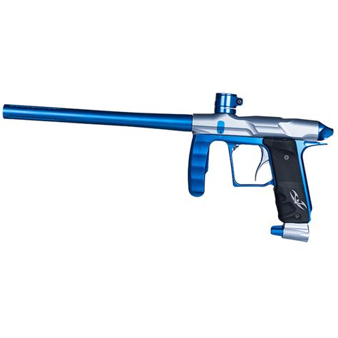 Valken Proton Paintball Gun by Valken Proton Le Paintball Marker Grey Dust Electric Blue Tt
