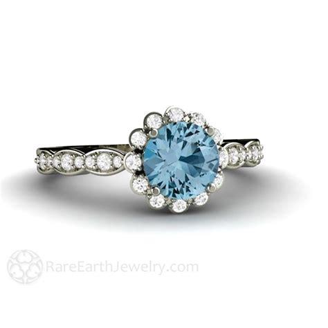aquamarine engagement ring aquamarine ring halo aqua
