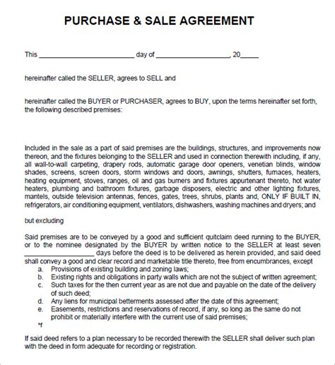 Agreement Of Sale Template 6 free sales agreement templates excel pdf formats