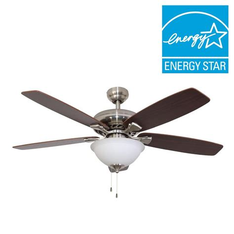 energy star ceiling fans sahara fans ardmore 52 in brushed nickel energy star