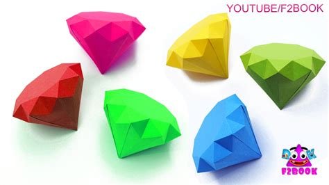 How To Make Diamonds Out Of Paper - origami how to make a paper simple way