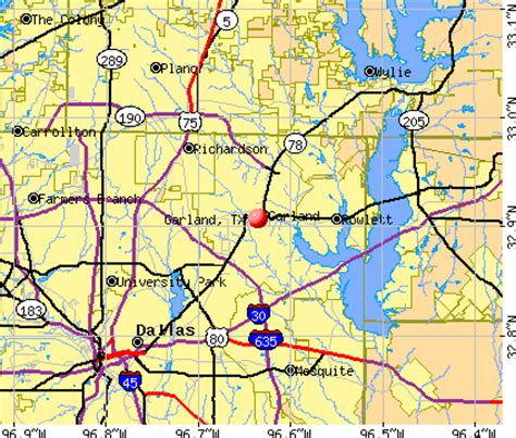 where is garland texas on map garland texas map