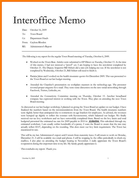 interoffice memo template free 8 office memo template xavierax