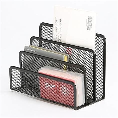Desk Organizer Sorter Desktop Organizer Tray Sorter Mail Letter Storage Holder Office Desk Table Black Ebay