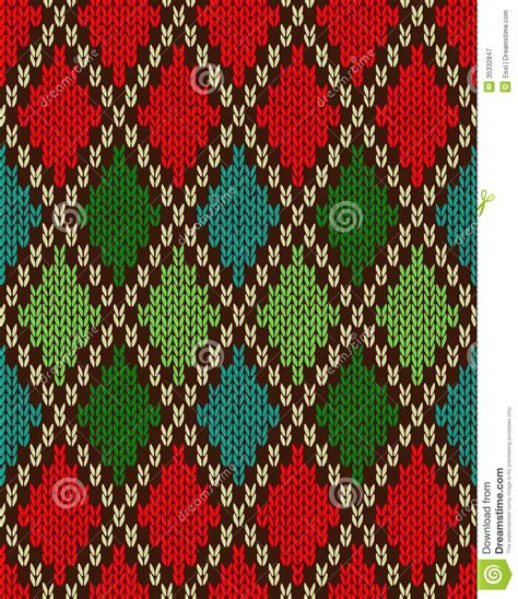 christmas pattern knit fabric seamless christmas knitted pattern stock vector image