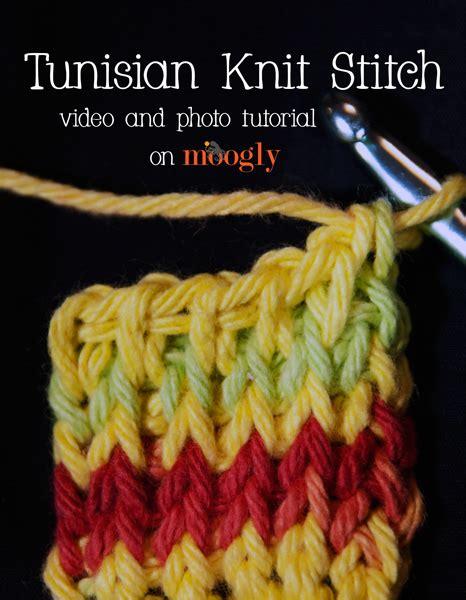 video tutorial tunisian crochet video and photo tutorial tunisian knit stitch moogly