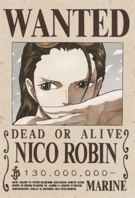 membuat poster buronan one piece image nico robin s current wanted poster png one piece