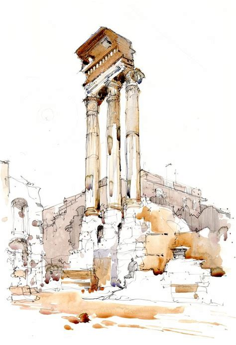urban watercolor sketching a 17 best images about sketching buildings detail on sketching sketchbooks and