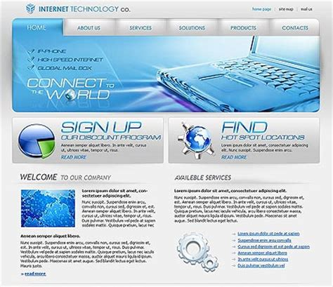 it company website template id 300110076 from simavera com