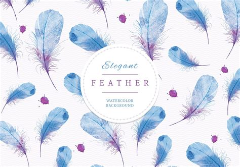 watercolor feather pattern watercolor feathers background vector graphic feather