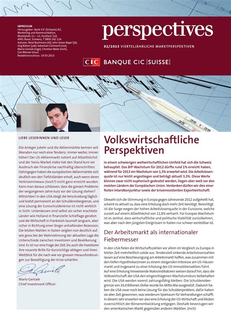 Banc Cic by Cic Perspectives 02 2013 By Banque Cic Suisse