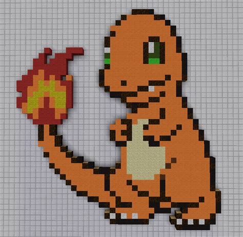 charmander pixel template 004 charmander by pkmnmc on deviantart