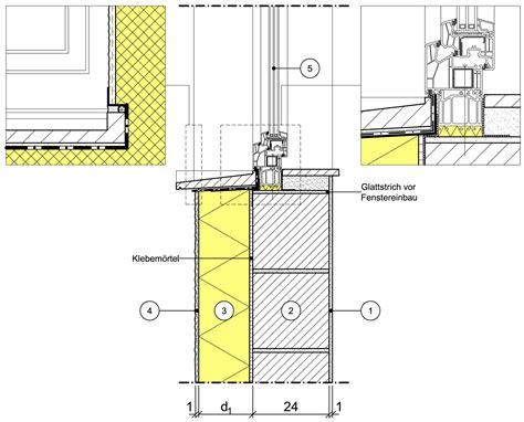 fensterbrett detail detailseite planungsatlas hochbau au 223 enwand mit
