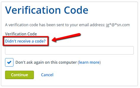 verification code need a verification code or no longer access to email