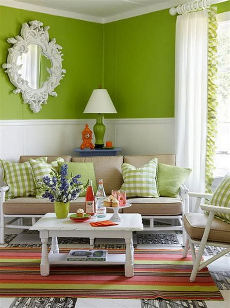 Living Room Ideas Using Green Chic And Colorful Living Room With Green Themes