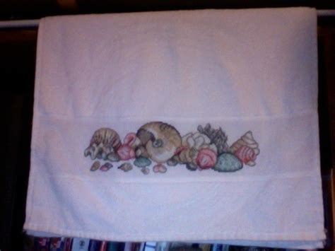 cross stitch hand towel  tea towel cross stitch