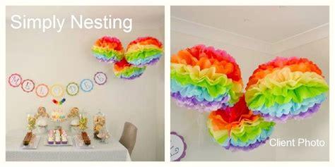 Make Your Own Tissue Paper Pom Poms - 1 multi colored pom poms make your own multi colored