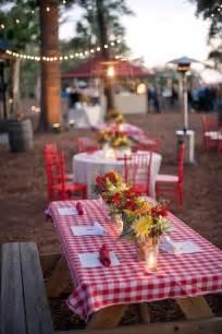 summer wedding reception theme picnic paperblog