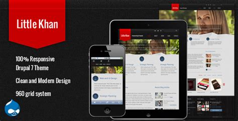 Drupal Themes Envato | little khan responsive drupal theme by tabvn themeforest