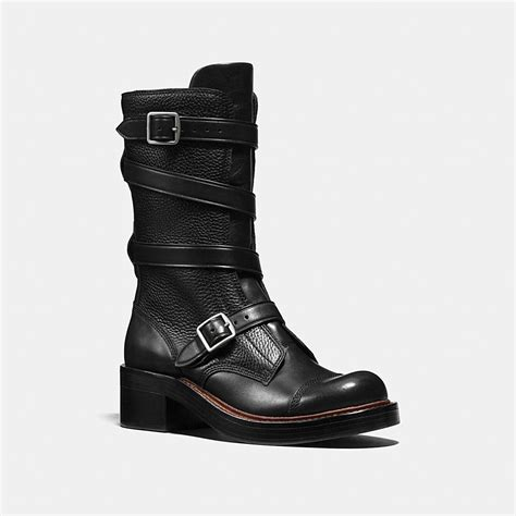 couch boots coach designer boots moto boot