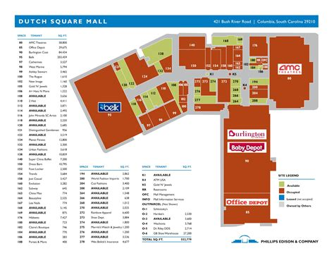 Garden State Mall Map by Square Then Then At Columbia Closings