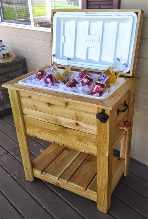 backyard ice chest this ice chest box is made out of quality materials