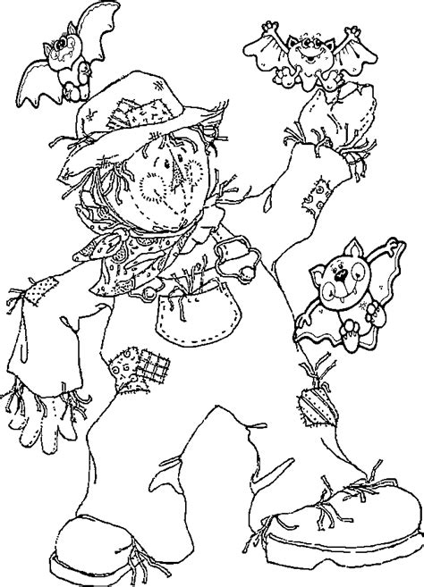 printable scarecrow coloring pages coloring home