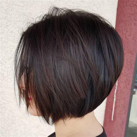 chin length layered angle bob 50 layered bob styles modern haircuts with layers for any