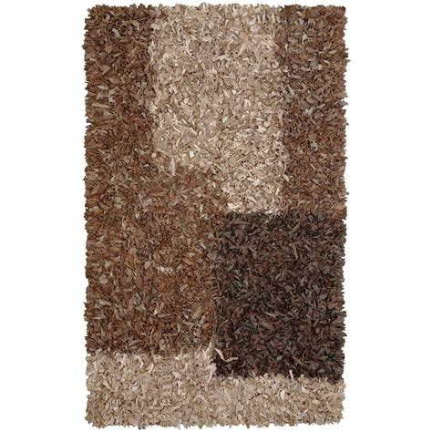 4x6 shag rugs st croix trading latte leather shag 4x6 rug 169182 rugs at sportsman s guide