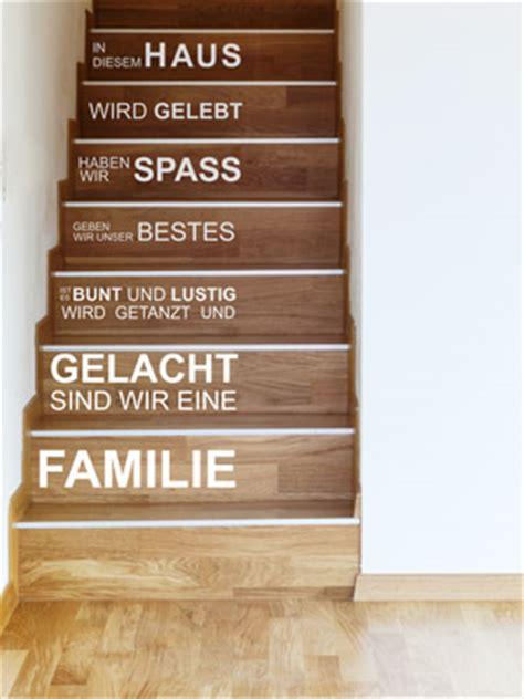 treppenstufen deko wandtattoo im treppenhaus auf treppe wand co