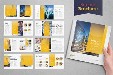 20 square brochure template word psd indesign and psd