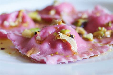 beet ravioli with herb ricotta filling tara s multicultural table