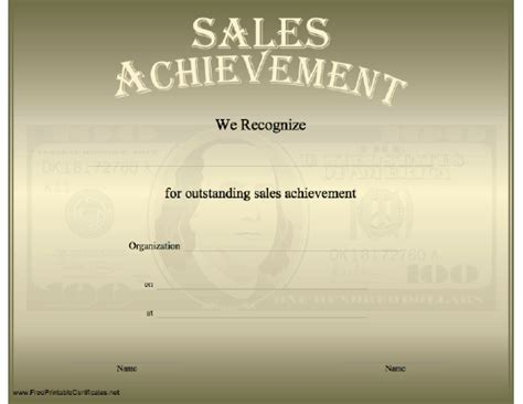 sales certificate template free printable achievement sheet invitations ideas