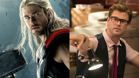 thor film elenco chris hemsworth aponta diferen 231 as entre thor e seu
