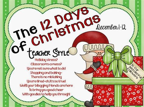 12 days of christmas gifts for teachers lmn tree 12 days of style linky