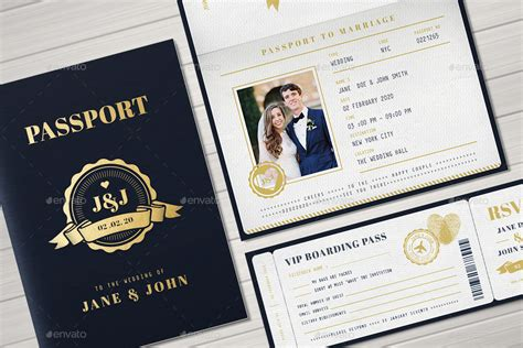 passport invite template passport wedding invitation by vector vactory graphicriver