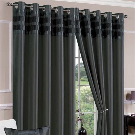 grey ready made curtains uk denver faux silk dark grey ready made eyelet curtains