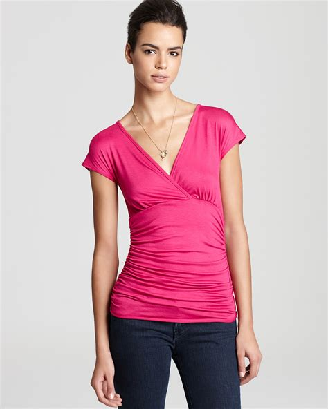 Sweet Tops From Ruche by Sweet Pea Top Ruched Waist Solid Bloomingdale S