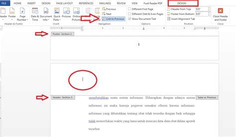 cara membuat halaman di word untuk skripsi cara membuat halaman di skripsi pada microsoft word