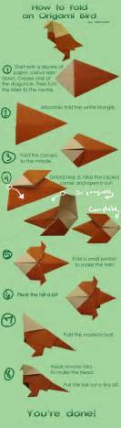How To Make A Paper Origami - how to make an origami bird by nitonale on deviantart