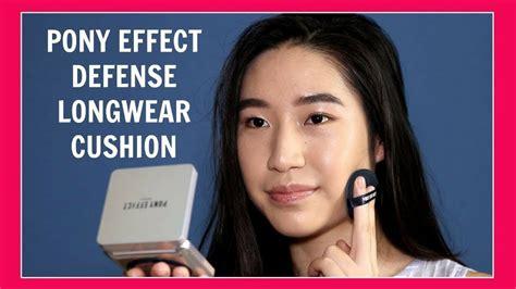 Foundation Trisia pony effect defense wear cushion foundation review demo tricia