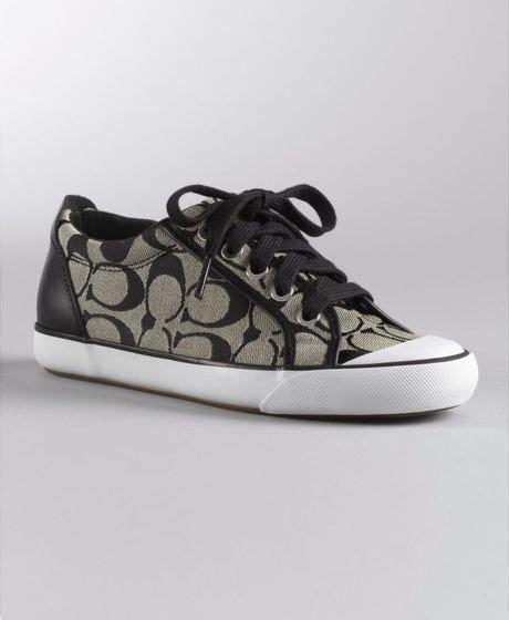 coach white sneakers coach barrett sneaker in black black white black lyst