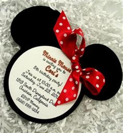 Minnie Mouse Handmade Invitations - minnie mouse invitations handmade velvet die cut 10