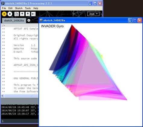 triangle pattern in unix artsat