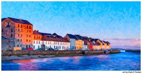 The Little Store Of Home Decor beautiful galway panorama irish seaside art print