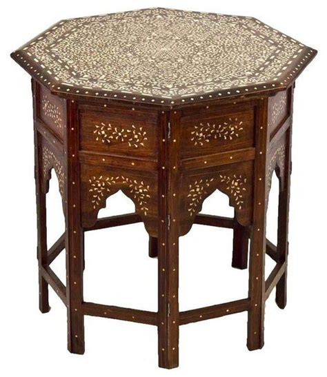 Moroccan Side Table Moroccan Bone Inlay Side Table