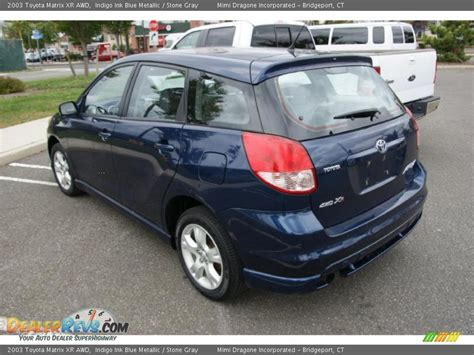 Toyota Matrix Xrs 2003 2003 Toyota Matrix Xr Awd Indigo Ink Blue Metallic