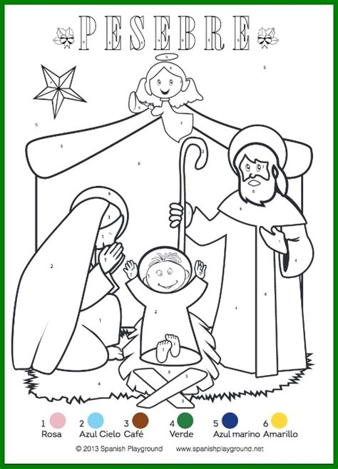 color by color by number pages nativity and