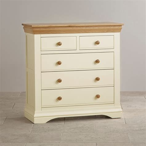 Chess Of Drawers by Country Cottage Painted 3 2 Chest Of Drawers In Oak